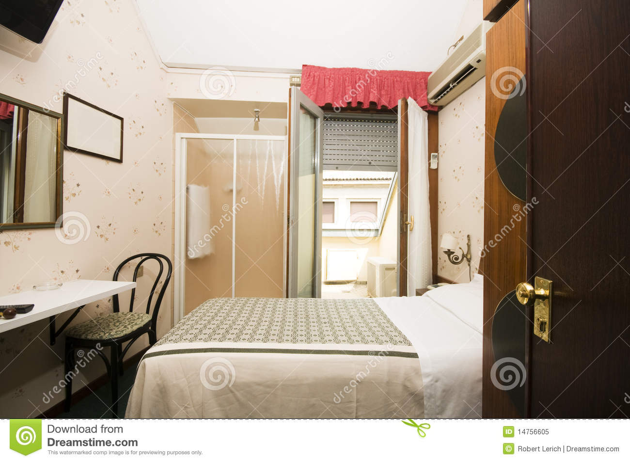 Interior small hotel room milan italy stock image image for Small hotel interior design