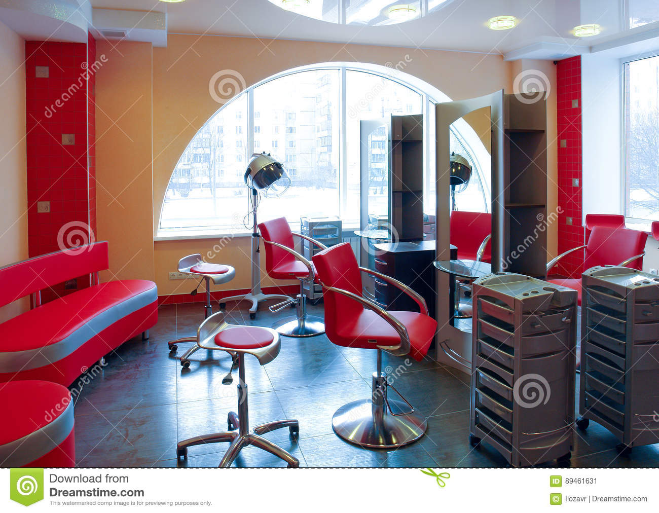 Interior Spa Salon For Body Care And Skin Care Stock Image Image Of Design Hairdresser 89461631