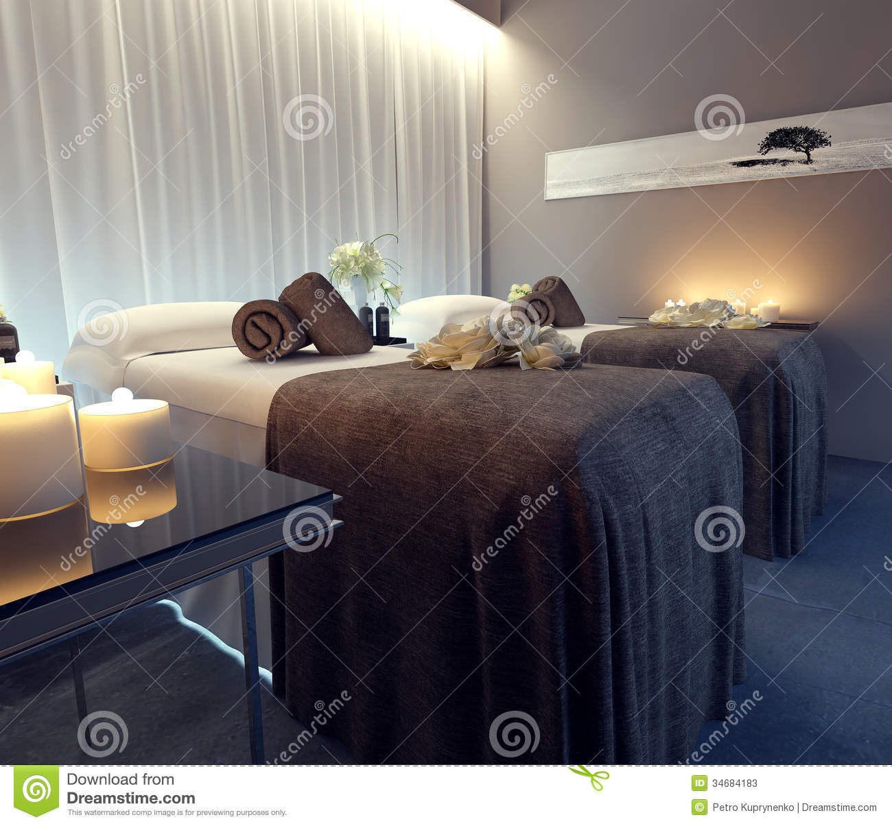 Interior Spa Salon Stock Photos - Image: 34684183