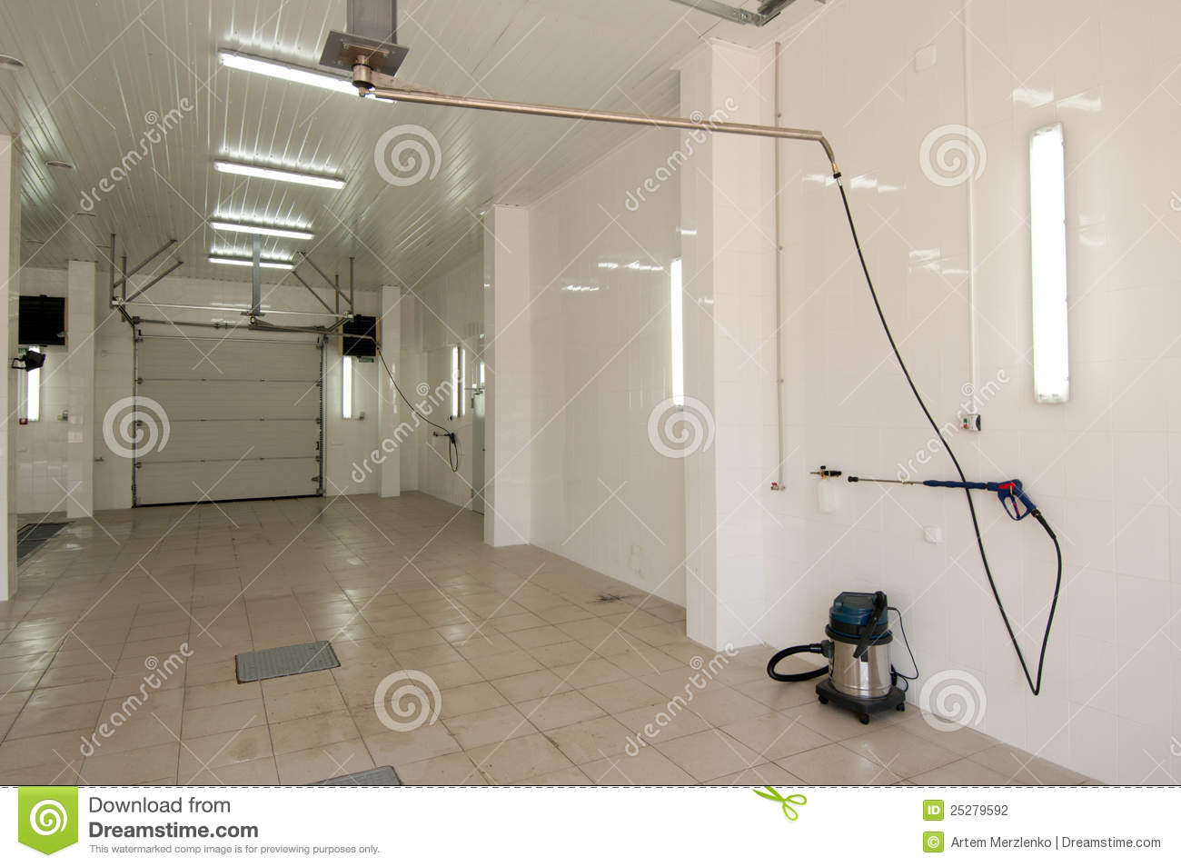 Interior space car wash stock photo. Image of compact - 25279592