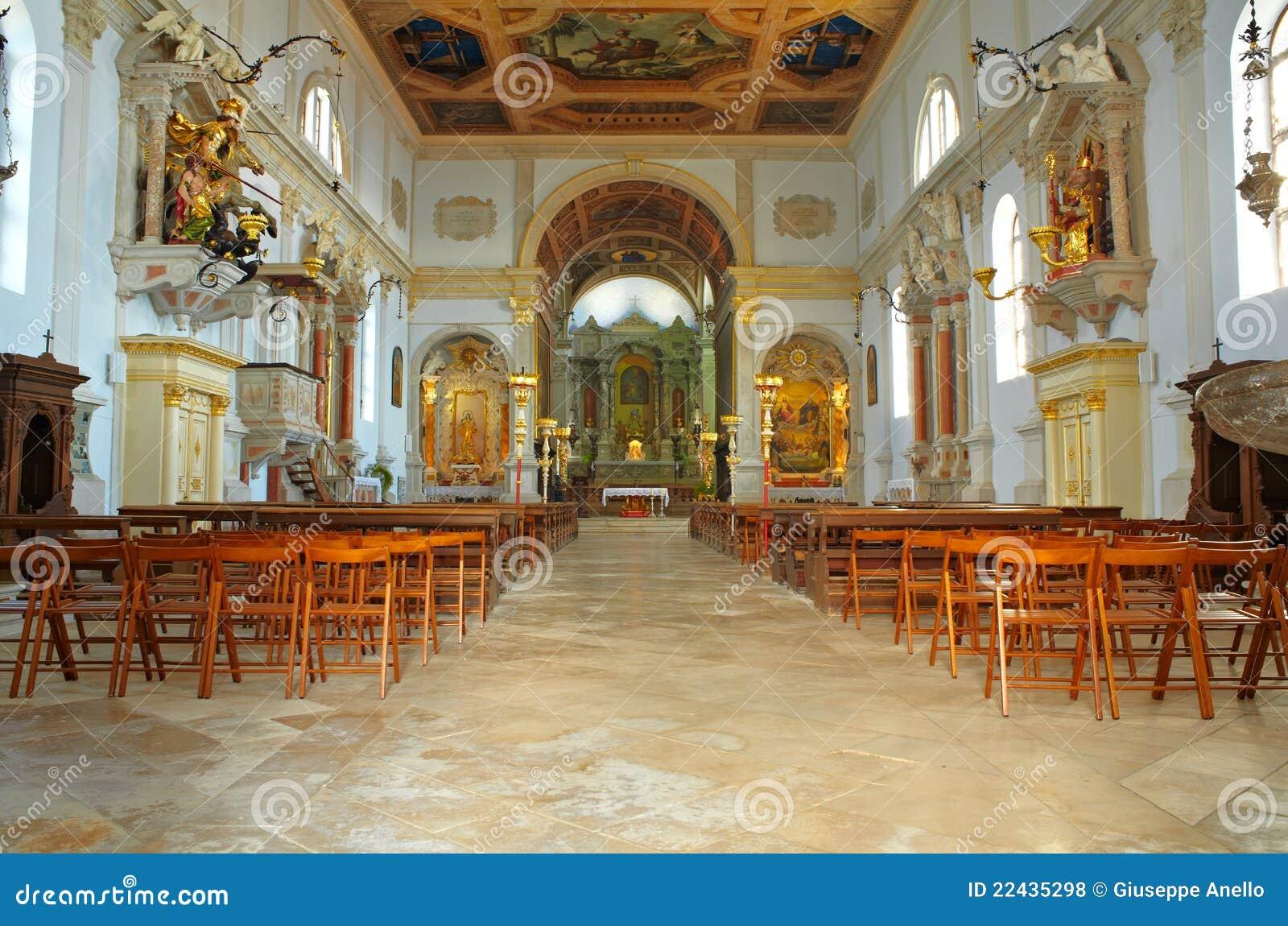 Interior of St. George church,
