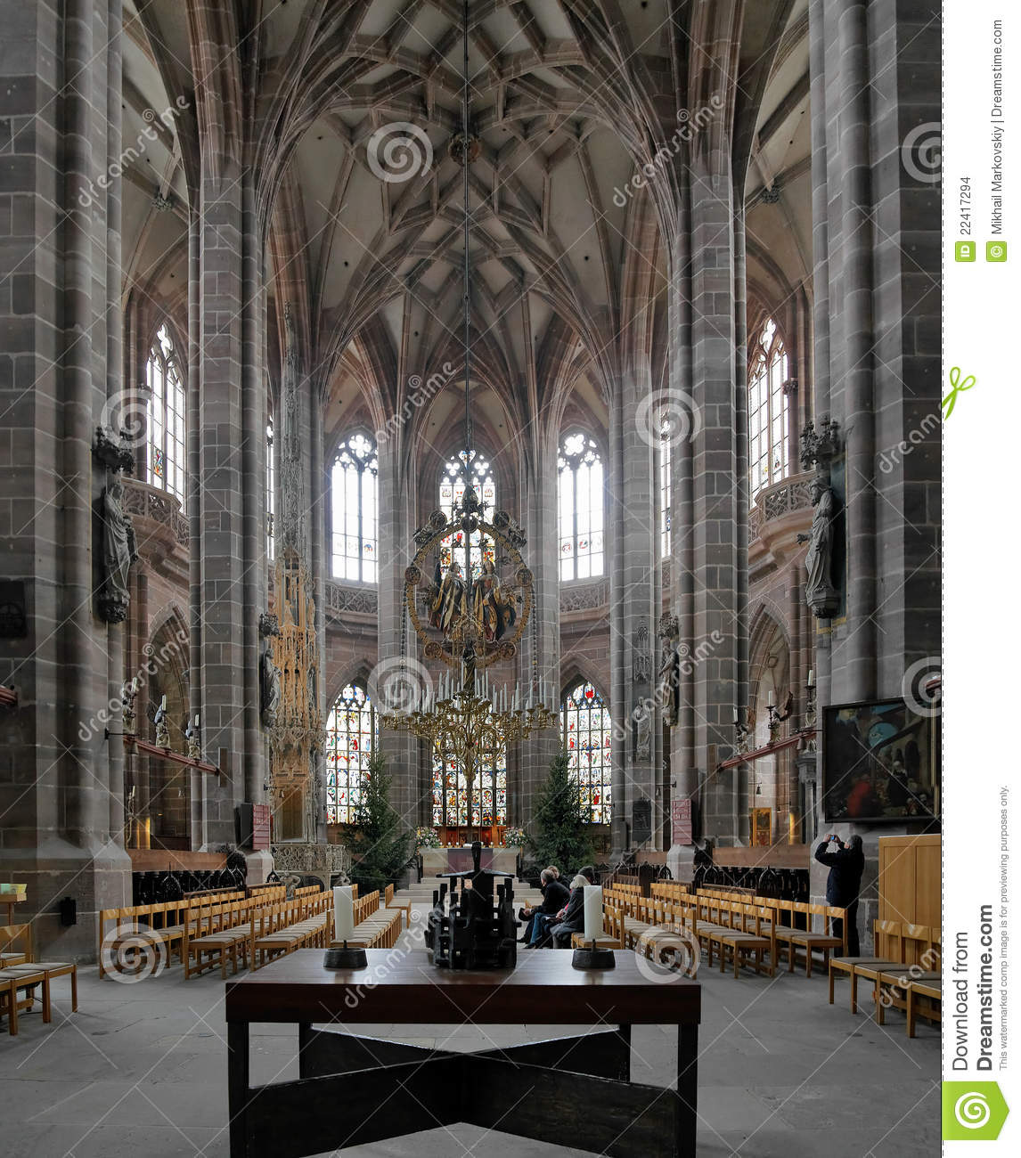 Interior Of St Lorenz Church In Nuremberg Editorial Stock