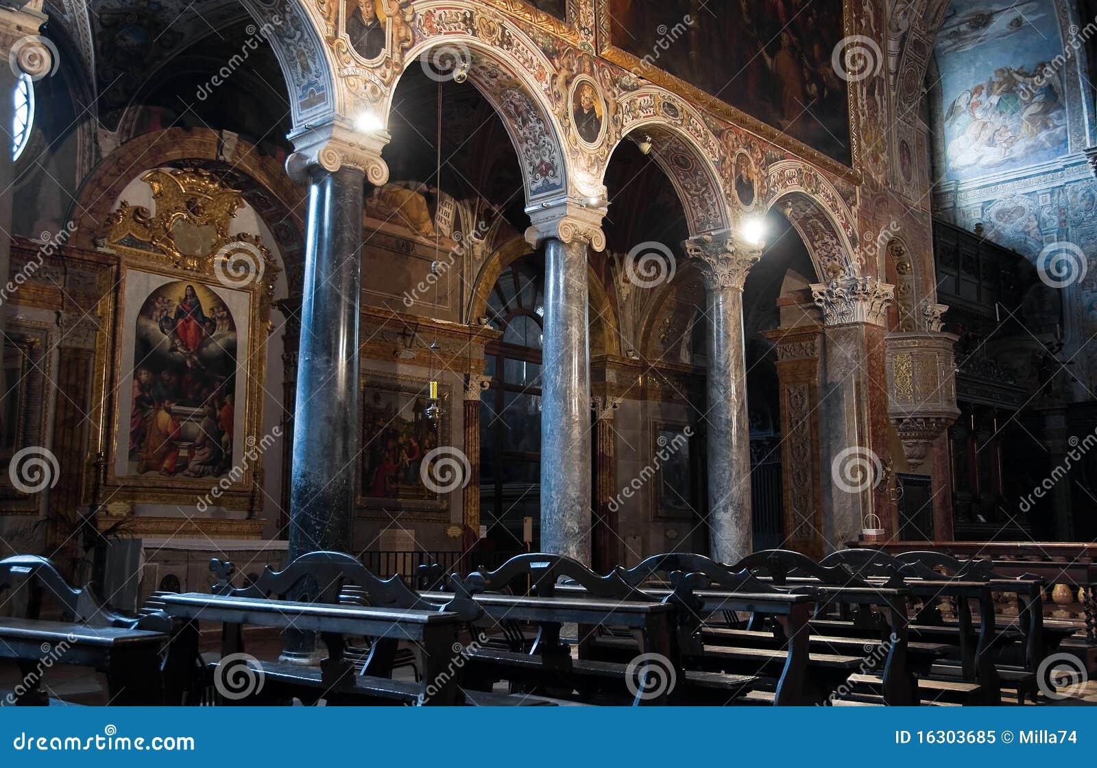 Interior st pietro basilica perugia umbria royalty free stock photo image 16303685 - Interior design perugia ...