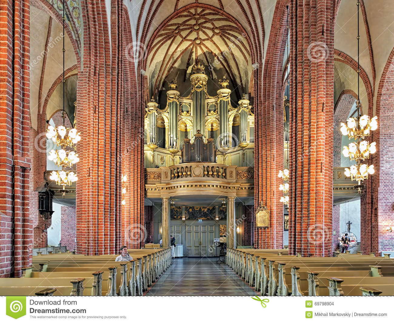 Interior Of Storkyrkan With The Main Organ Stockholm