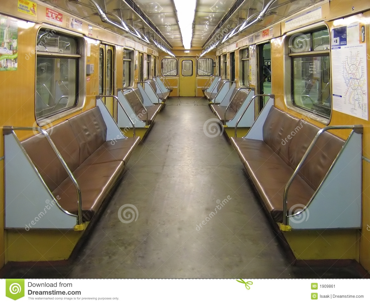 interior of a subway car stock image image of line journey 1909861. Black Bedroom Furniture Sets. Home Design Ideas