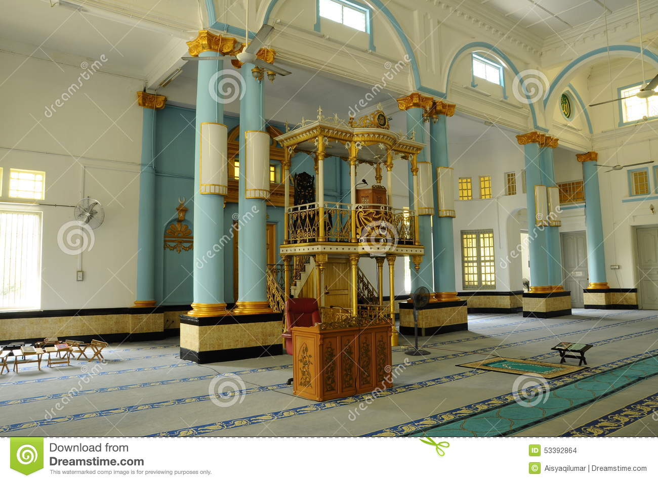 Interior Of The Sultan Ibrahim Jamek Mosque At Muar Johor