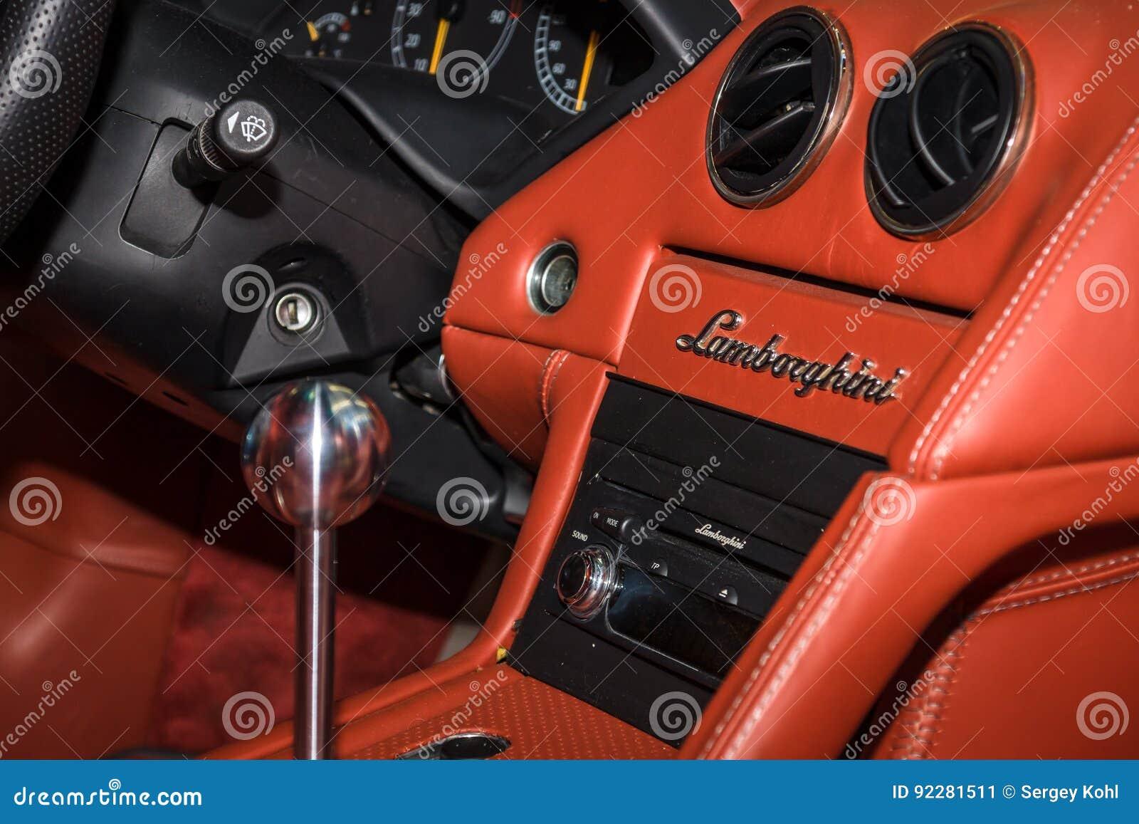 Interior Of Supercar Lamborghini Murcielago 2004 Editorial Photo