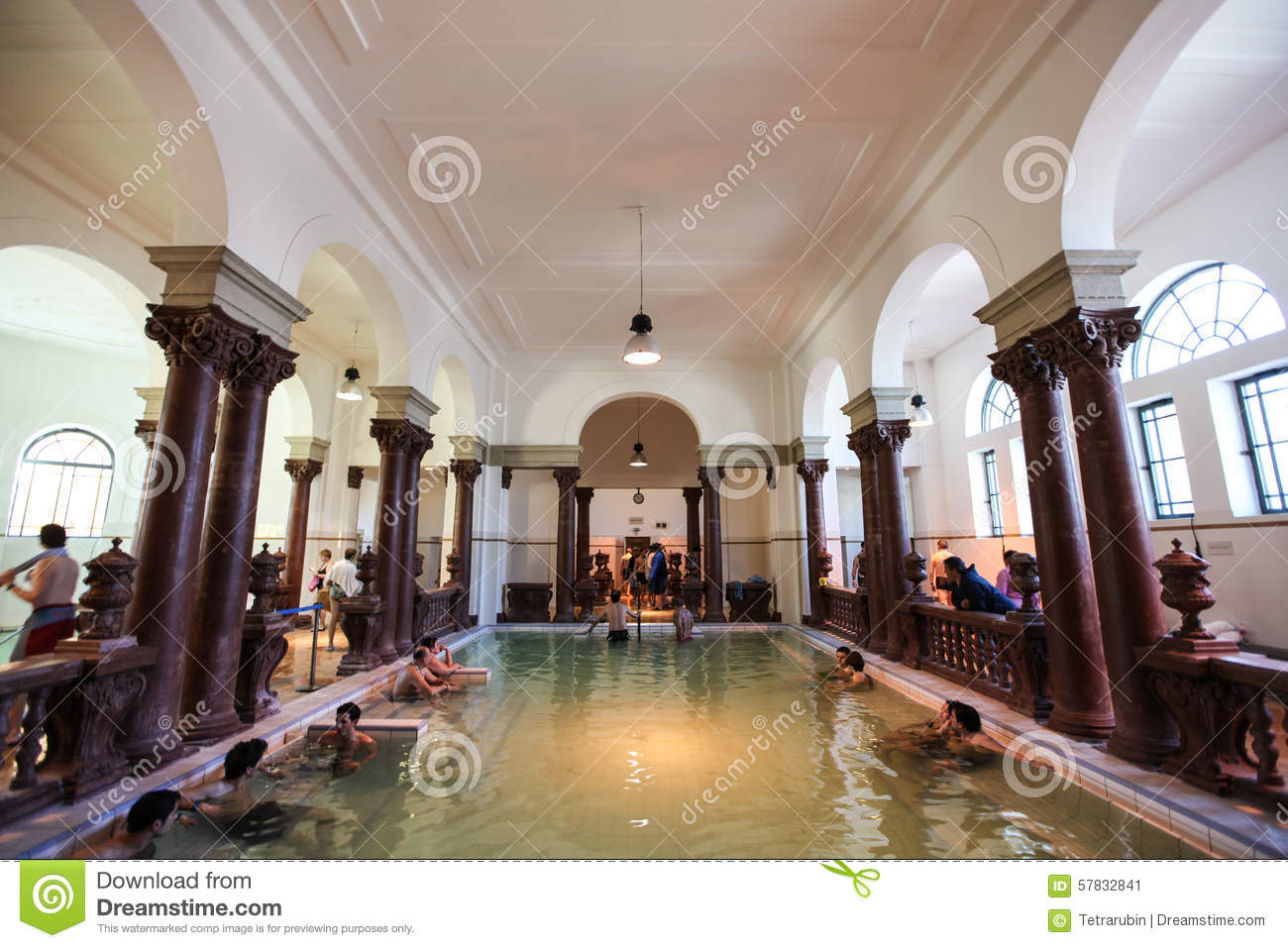 Interior of szechenyi spa bath therms in budapest for A list salon budapest