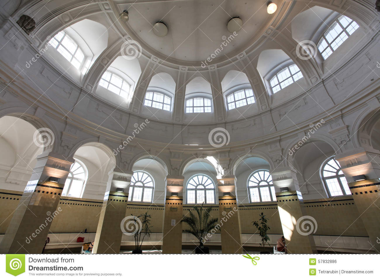 Interior of szechenyi spa bath therms in budapest stock for A list salon budapest