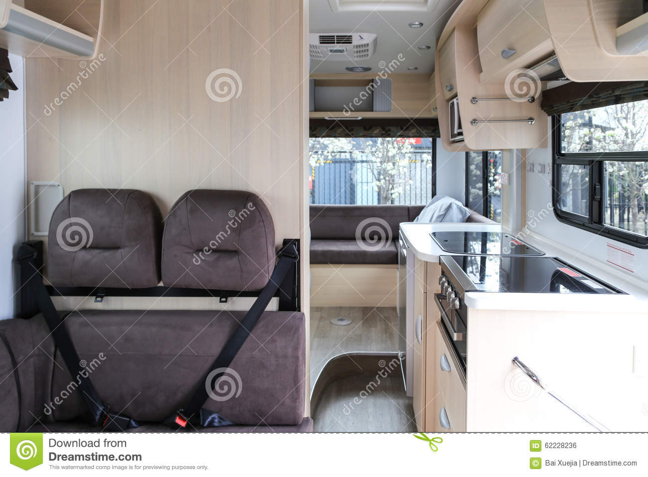 interior of touring car stock photo image 62228236. Black Bedroom Furniture Sets. Home Design Ideas
