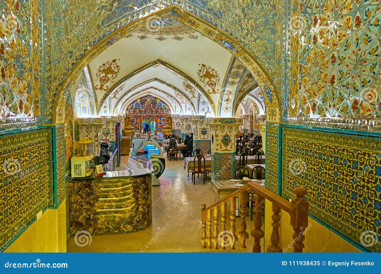 Interior Of Traditional Persian Restaurant, Isfahan, Iran
