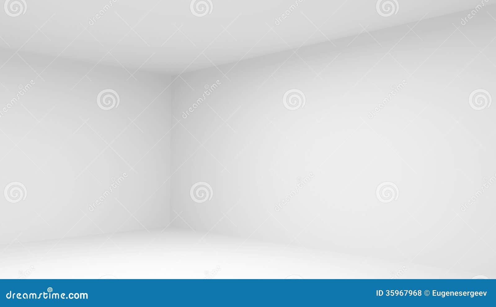 Interior vacío abstracto del sitio blanco
