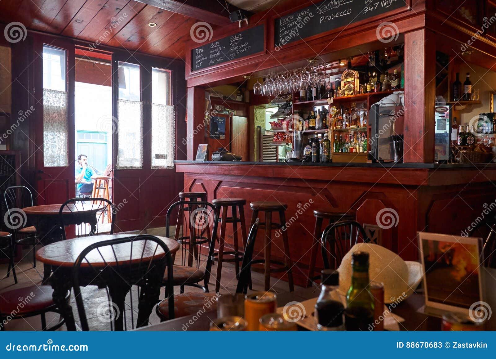 The interior of valletta cafe malta editorial stock photo