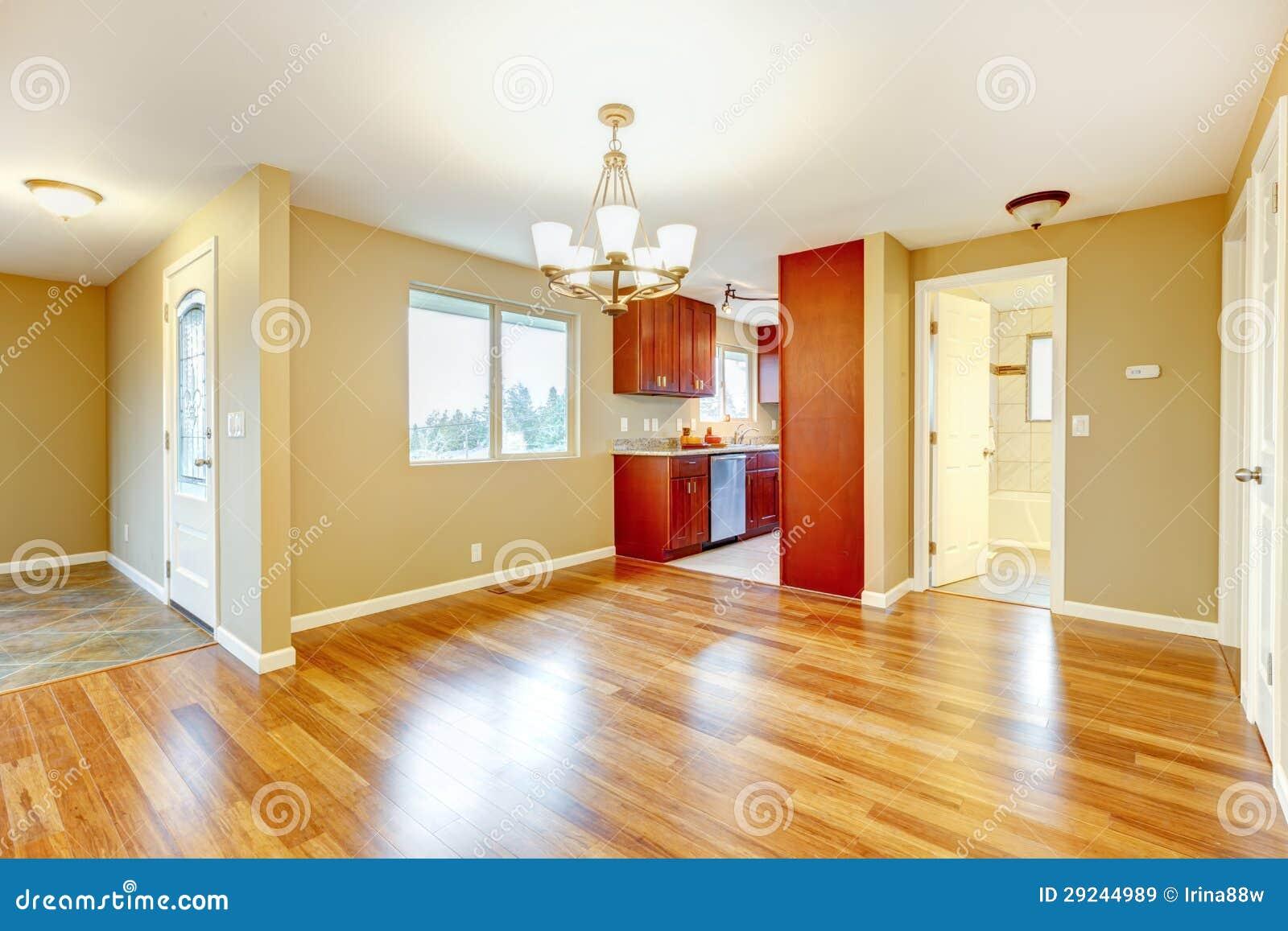 Download Interior Vazio Novo Da Sala De Jantar E Da Cozinha. Imagem de Stock - Imagem de home, propriedade: 29244989