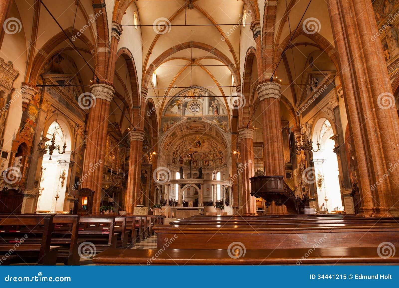 Interior of verona cathedral royalty free stock photo - Interior design verona ...