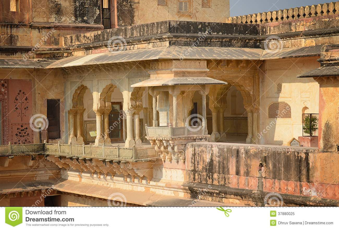 Interior View Of Amber Fort Jaipur Royalty Free Stock