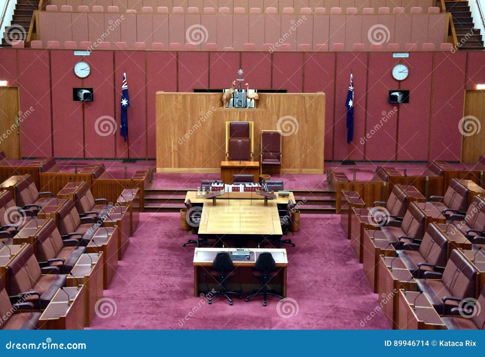 Interior View Of The Australian Senate In Parliament House