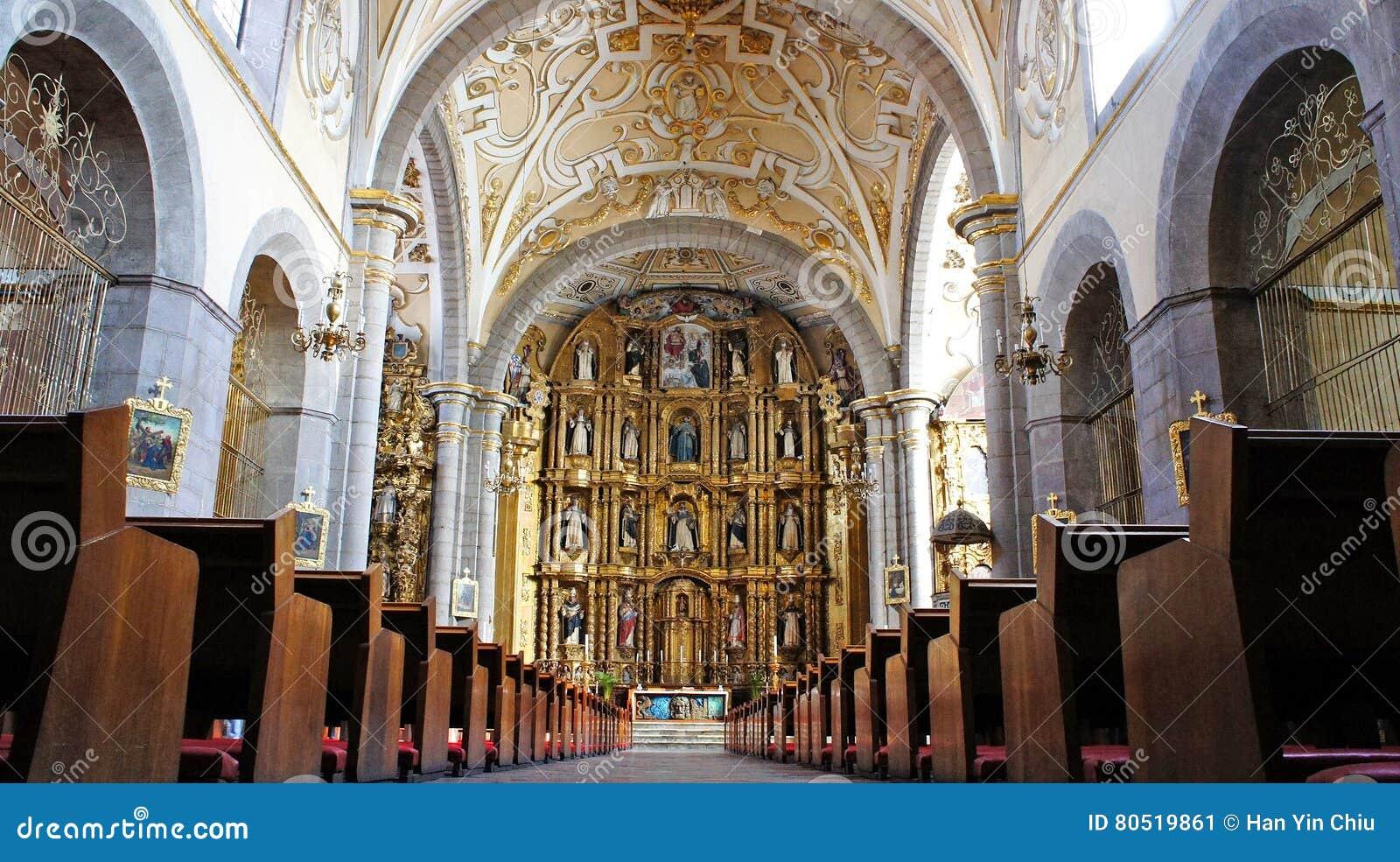 Santo domingo temple, city of puebla, mexican state of puebla.