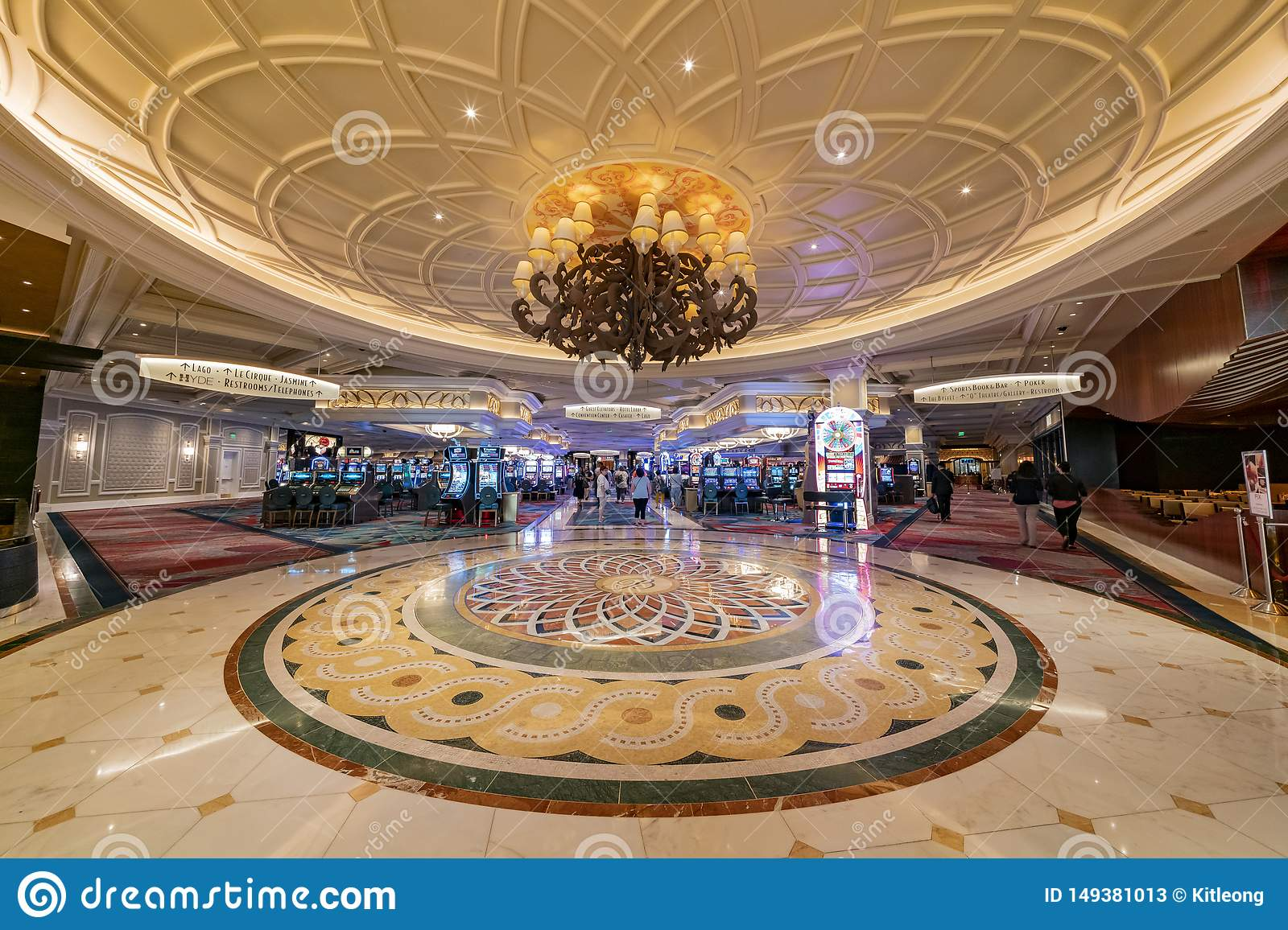 Interior View Of The Famous Bellagio Hotel And Casino Editorial