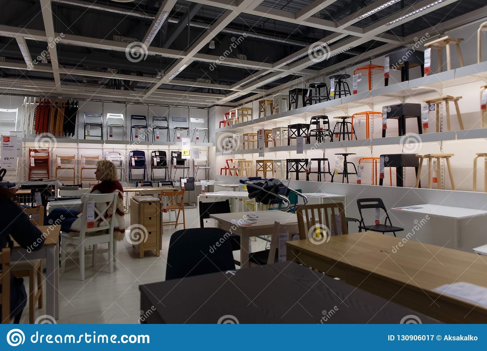 Interior View Of Furniture Room Inside Ikea Store Editorial