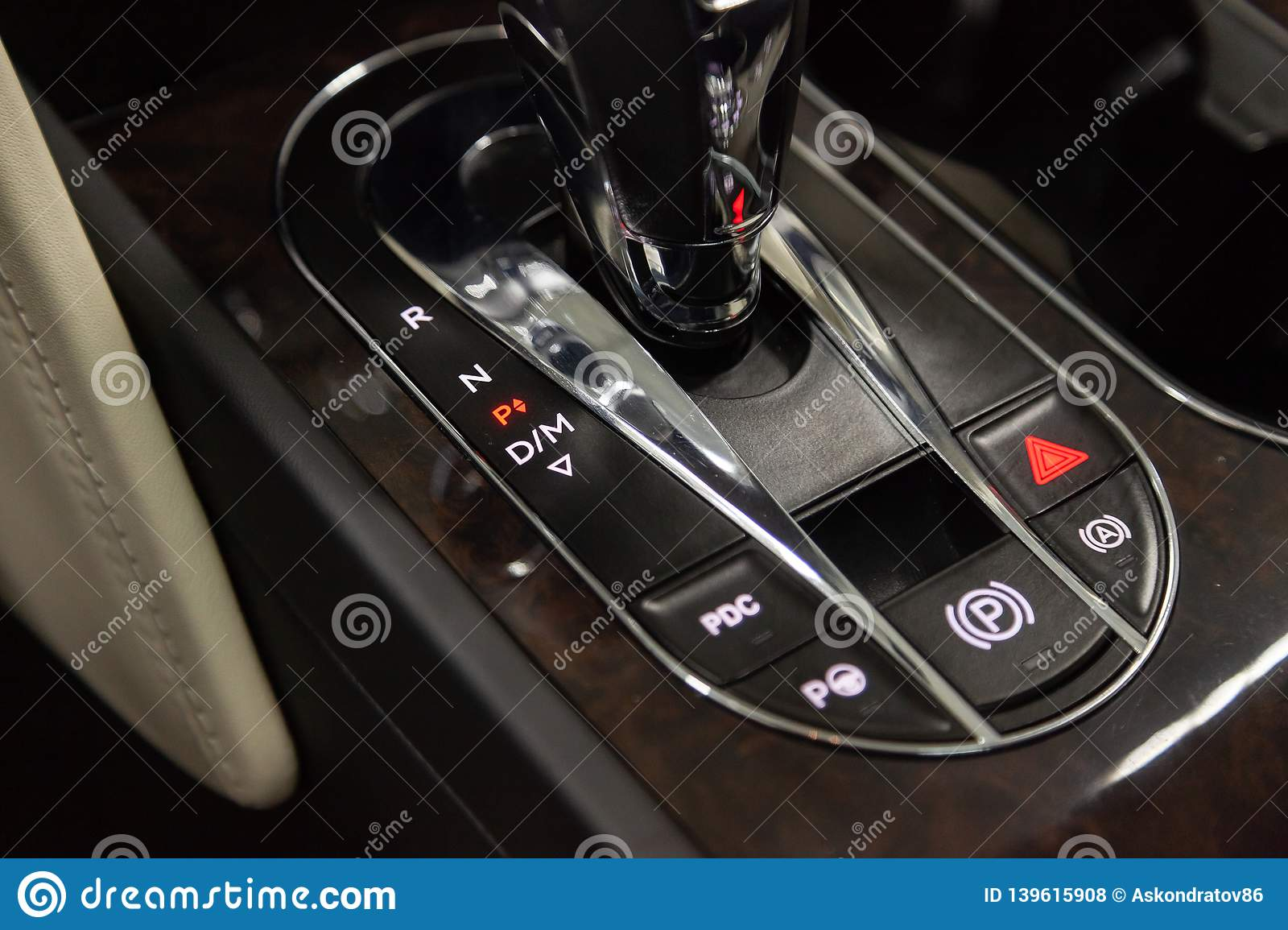 Interior View With Gear Selector Of Luxury Very Expensive New Black Bentley Bentayga Car Stands In The Washing Box Waiting For Editorial Stock Photo Image Of Crossover Light 139615908
