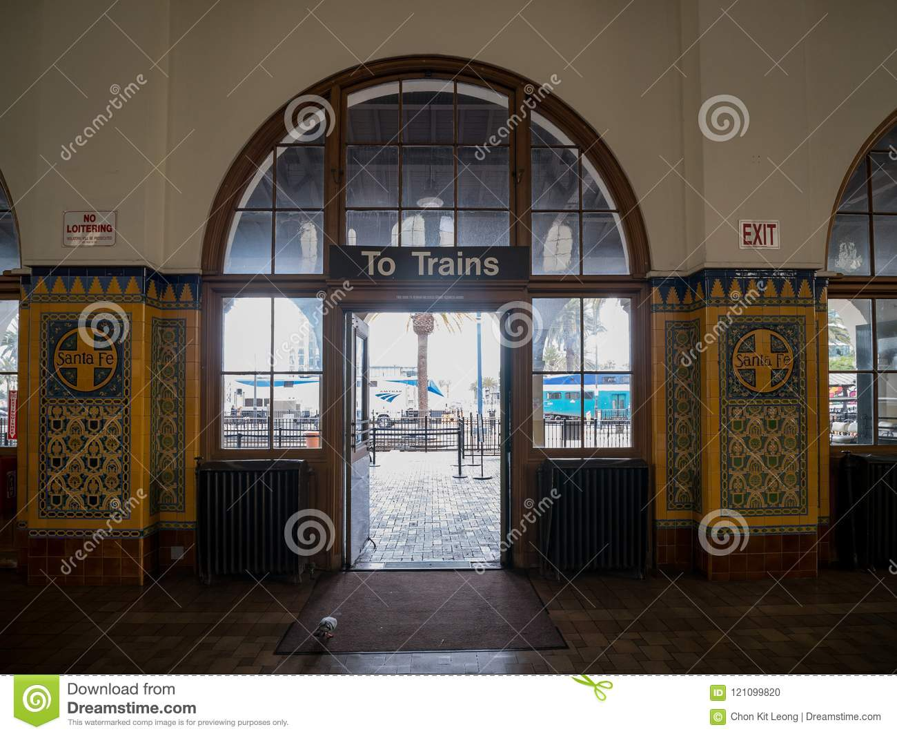 Interior View Of The Historical Santa Fe Station Editorial Image