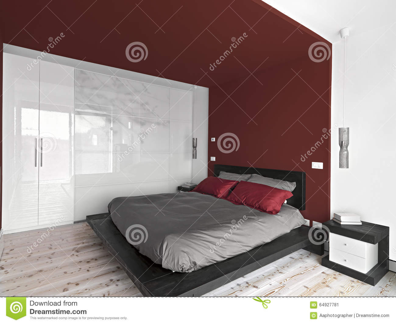 Interior View Of A Modern Bedroom Stock Image Image