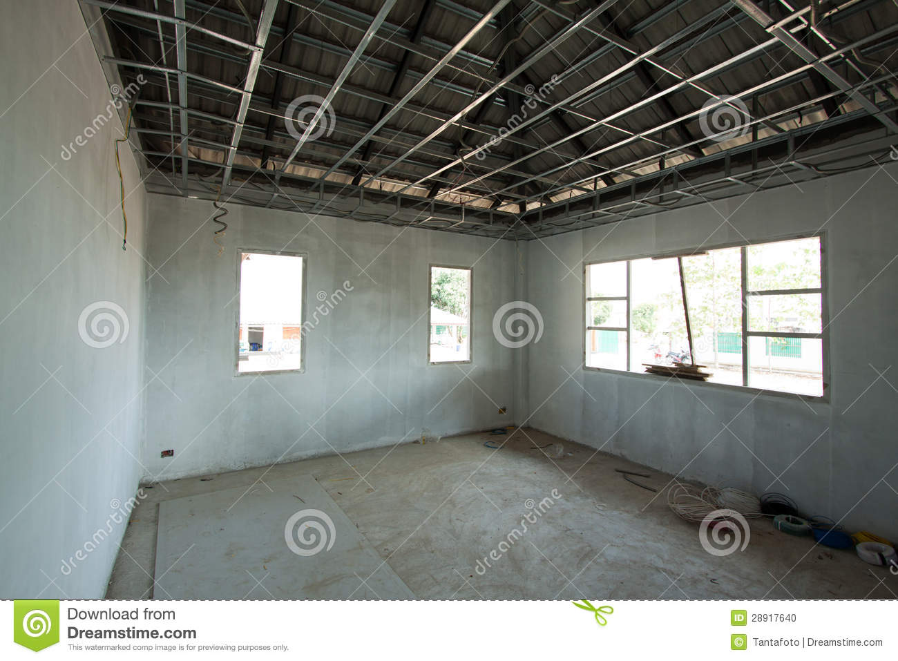 Interior View Of A New Home Under Construction Stock Photo Image 28917640