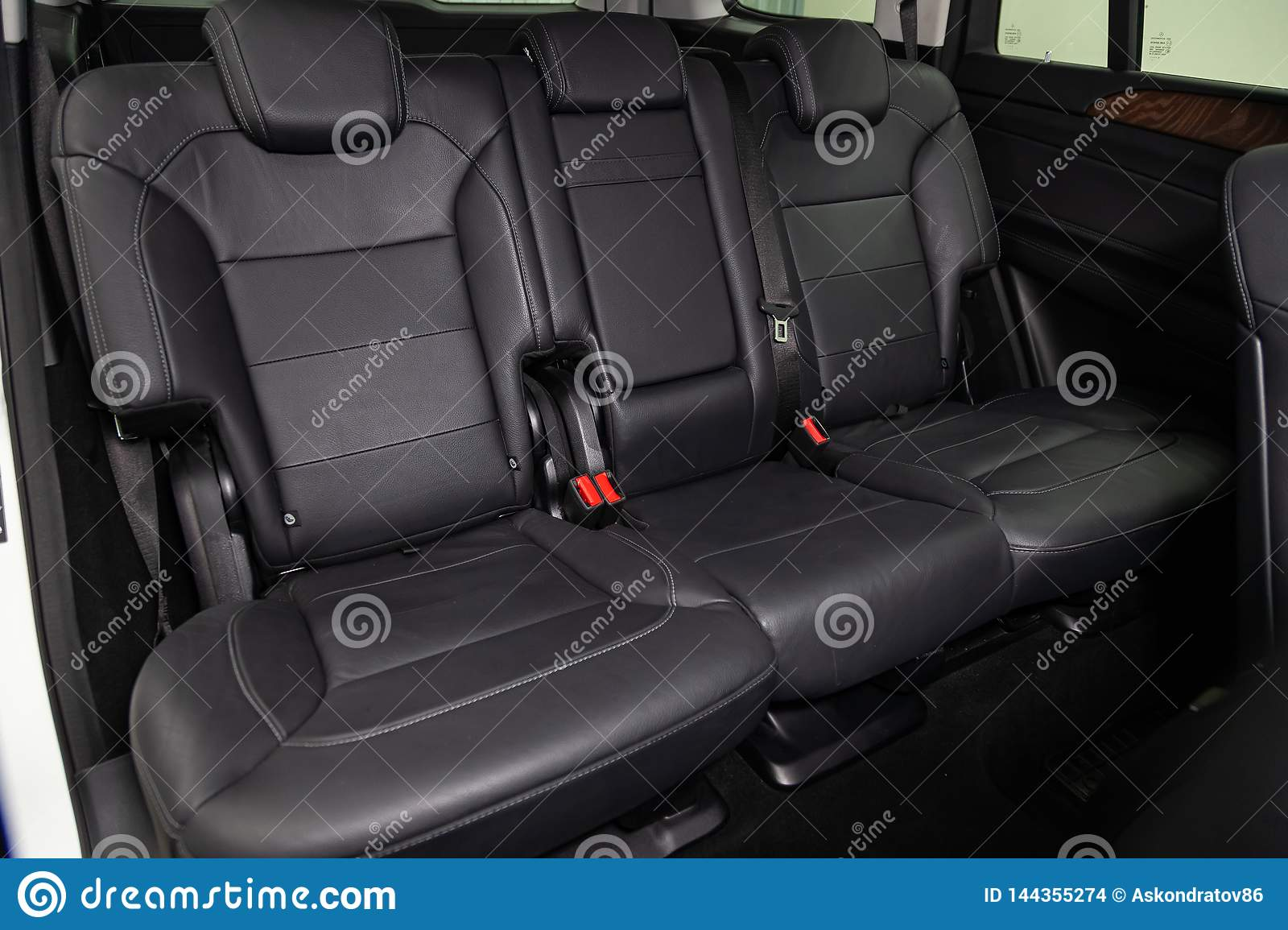 Mercedes Box Suv >> Interior View With Rear Seats Of Luxury Very Expensive New
