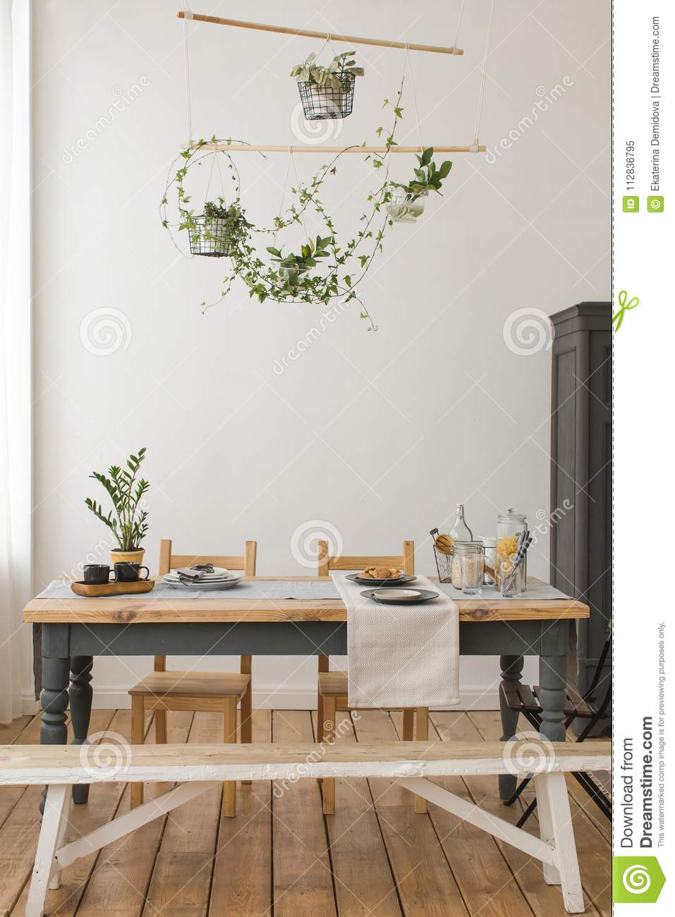 Picture of: Interior View Of Rustic Kitchen Stock Image Image Of Kitchen Elegance 112836795