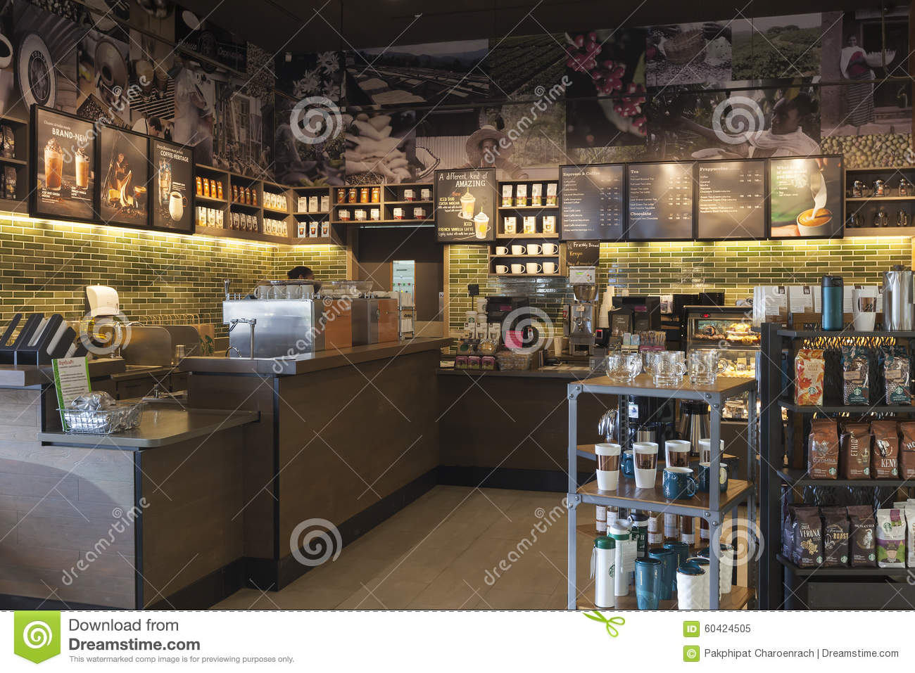 Interior View Of The Starbucks Coffee Coffeehouse Editorial Image