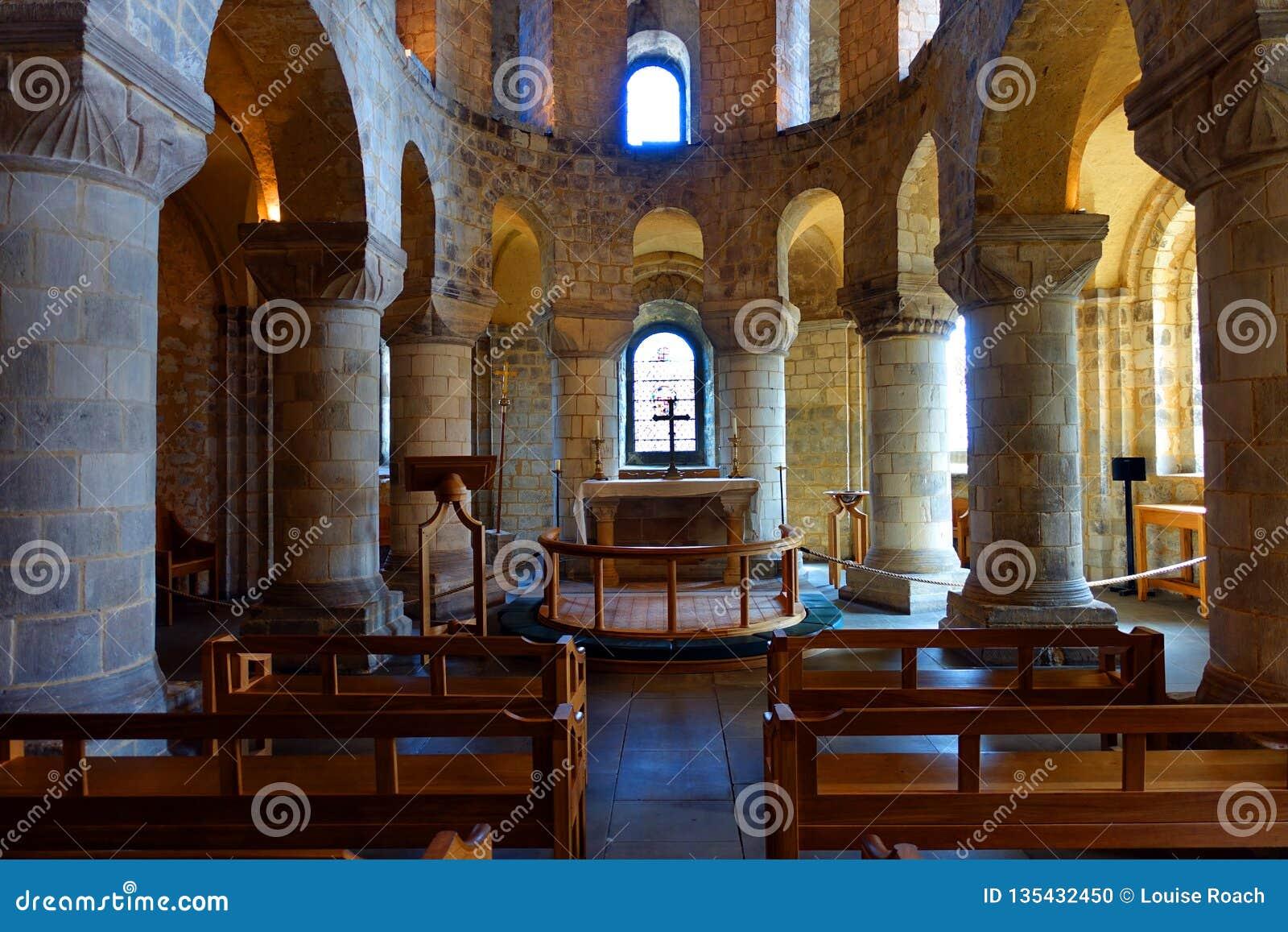 Romanesque Saint John's Chapel Tower of London