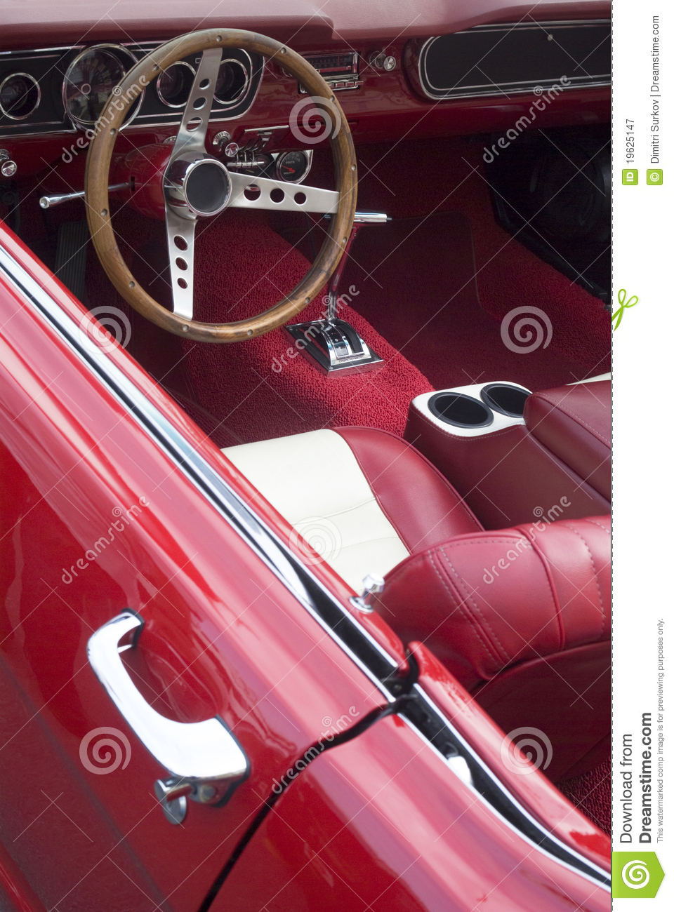 interior of a vintage car royalty free stock photography image 19625147. Black Bedroom Furniture Sets. Home Design Ideas