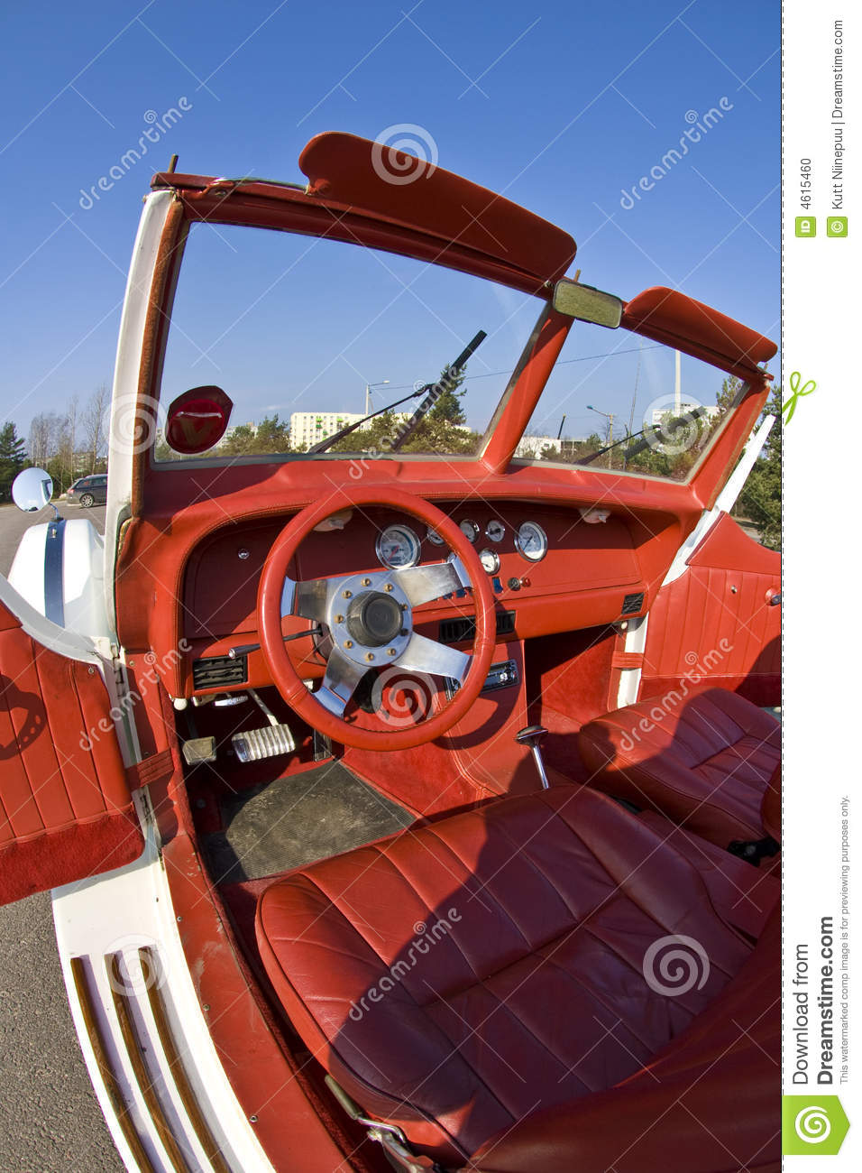 interior of vintage car stock photo image 4615460. Black Bedroom Furniture Sets. Home Design Ideas