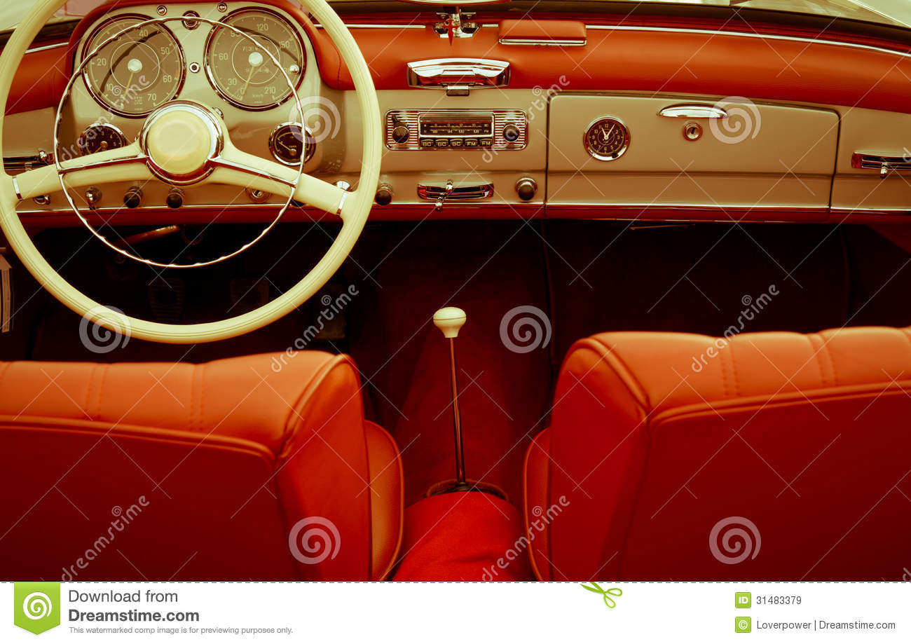interior vintage car editorial stock image image of design 31483379. Black Bedroom Furniture Sets. Home Design Ideas