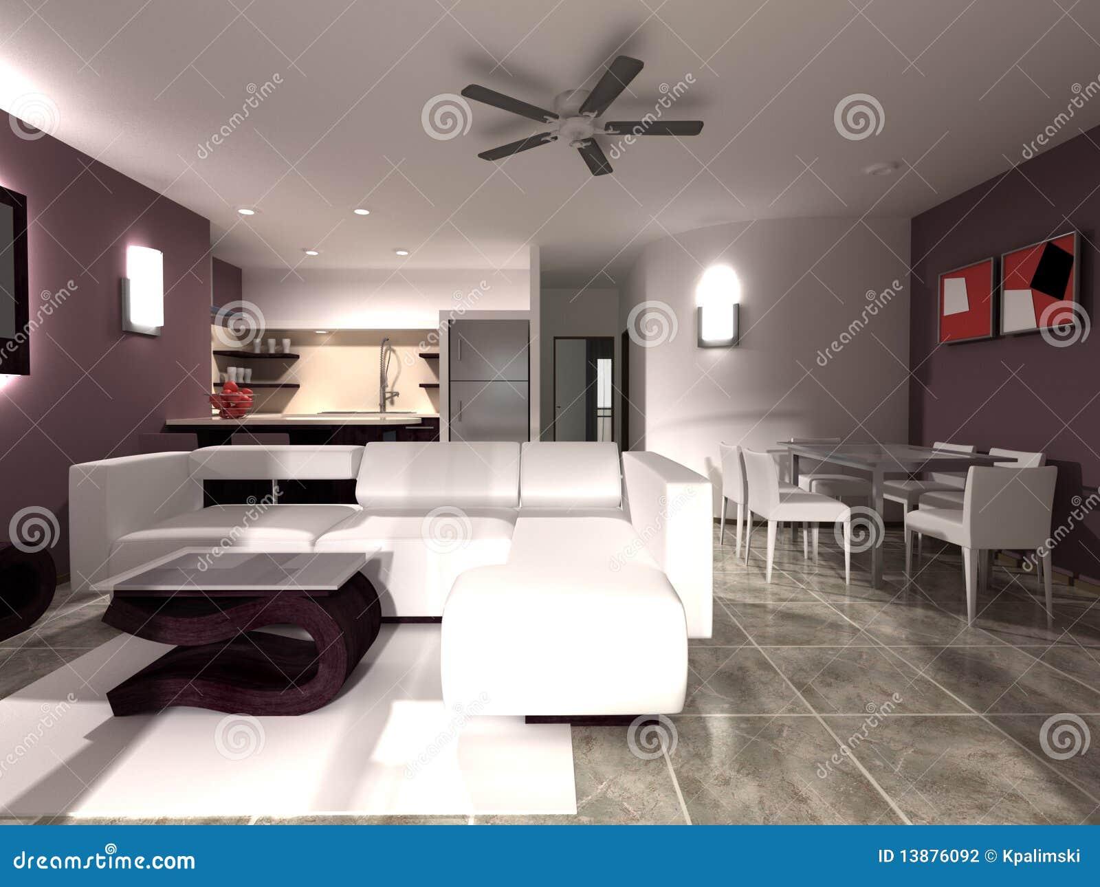 Interior Vivo Da Sala De Jantar Da Cozinha Fotografia de Stock  #86A922 1300 1065
