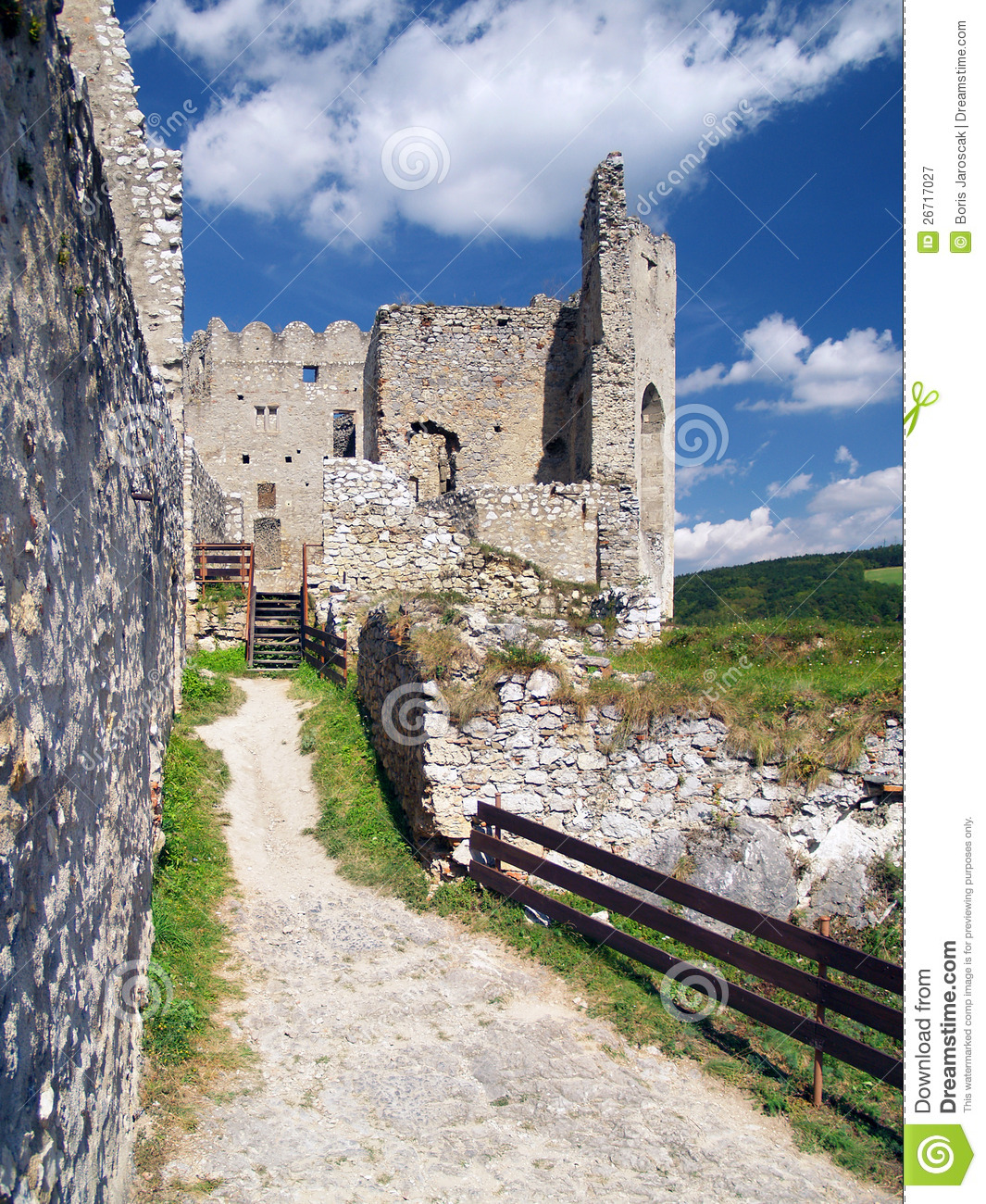 Interior walls of The Castle of Beckov