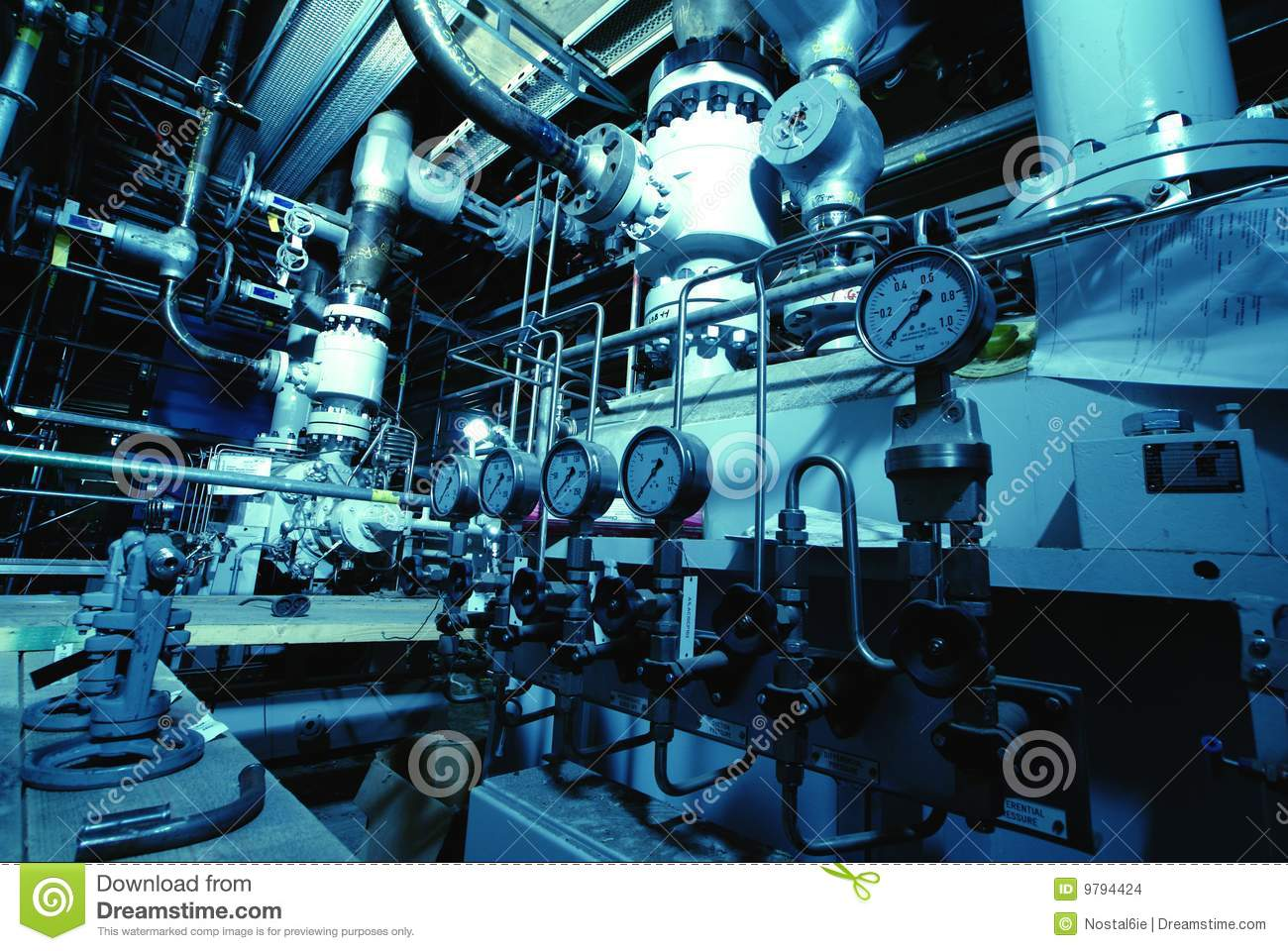 Sketch Of Piping Design Mixed With Industrial Equipment Photos Stock Instrumentation Diagram Water Treatment Plant Interior Images