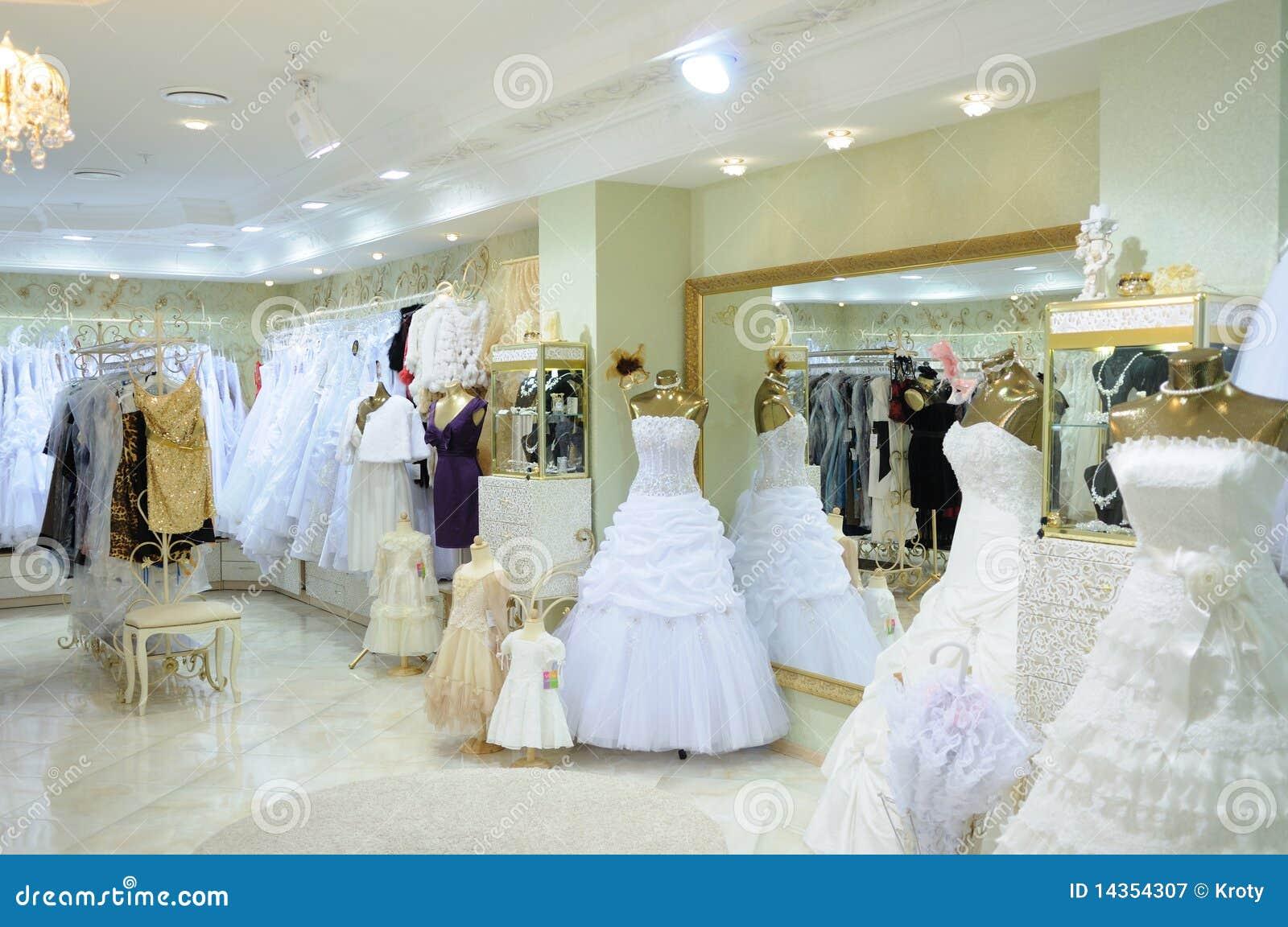 ff922c641545 Interior Of Wedding Fashion Store Stock Image - Image of beautiful ...