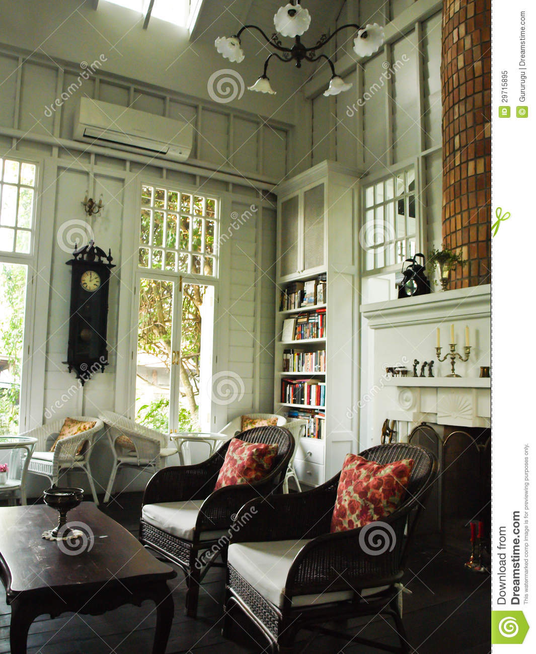 An interior of white english cottage room stock image image of house beautiful 29715895 - Decoration interieur anglais ...