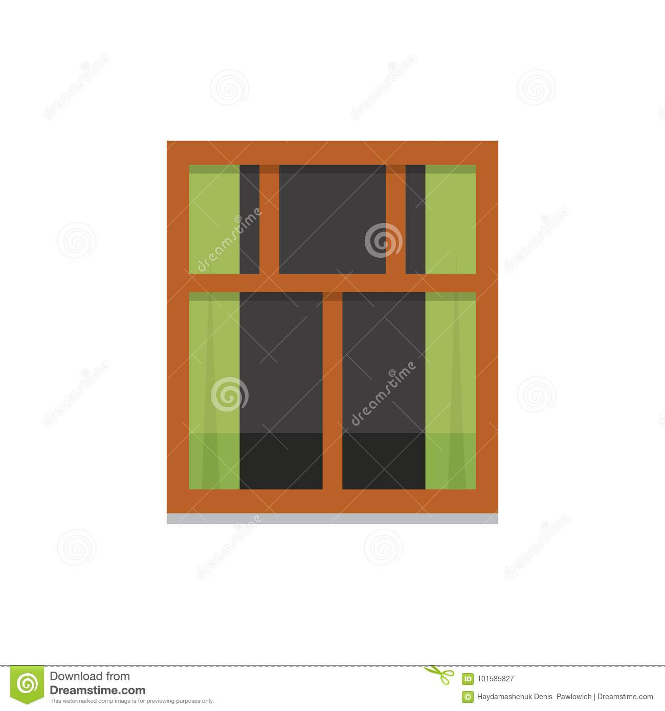 Interior window vector illustration architecture design for Window design vector