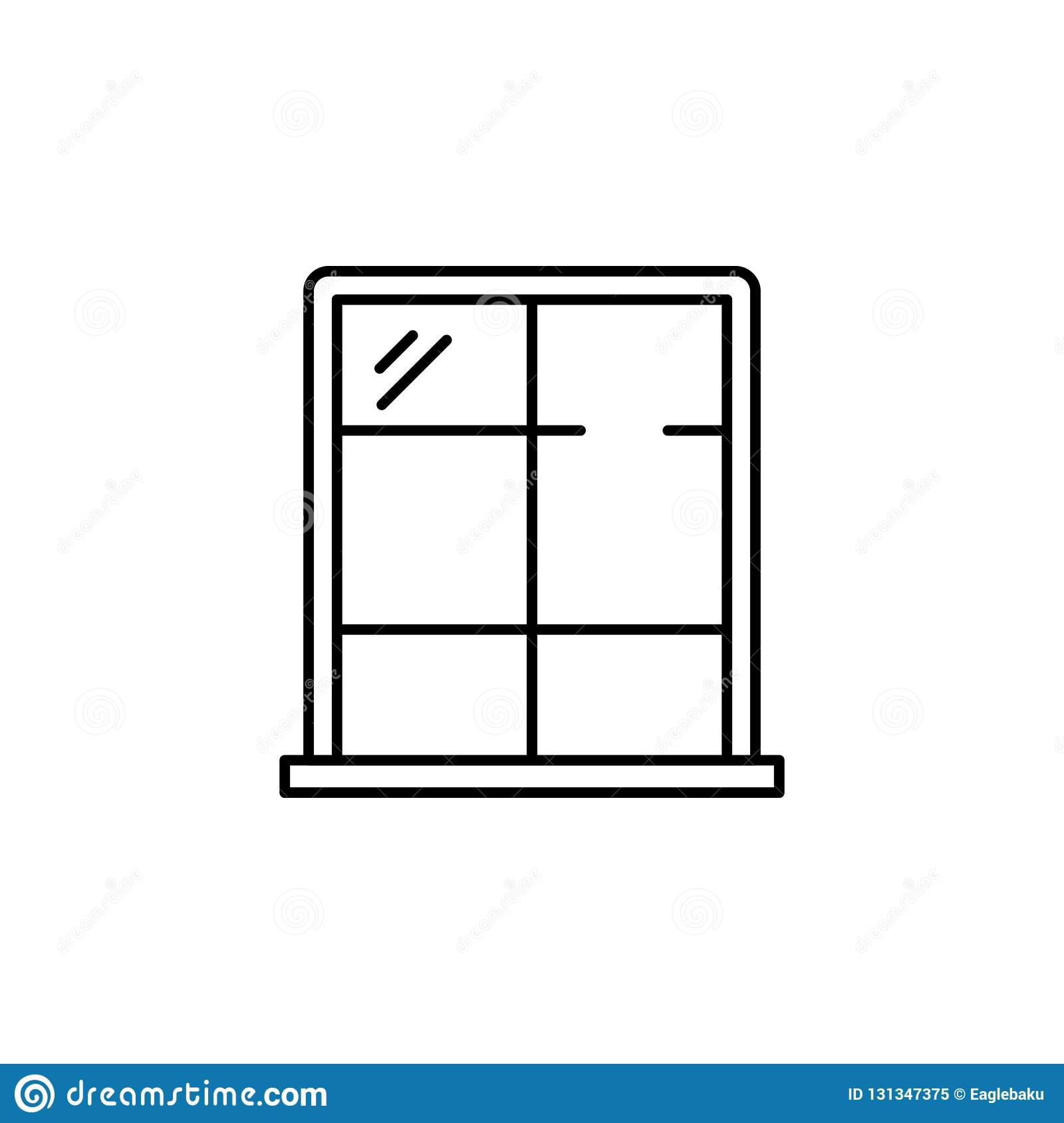 Interior, Windows Outline Icon  Signs And Symbols Outline Icon Can