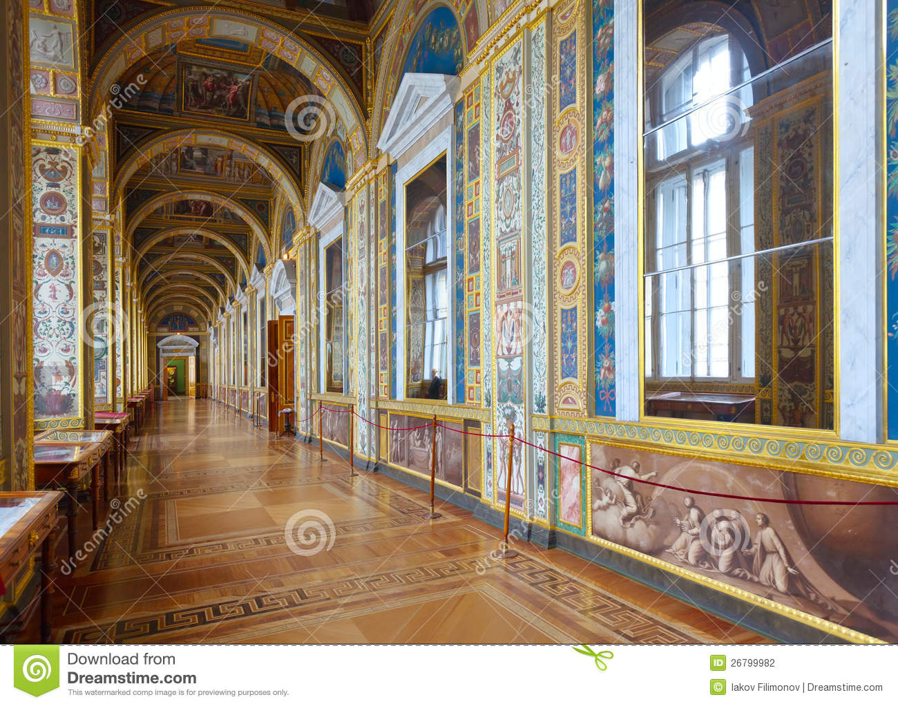 interior of winter palace editorial photography