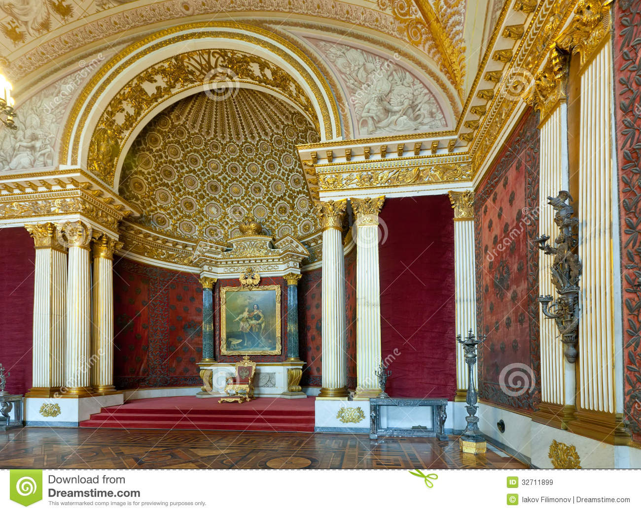 Interior Of Winter Palace Editorial Stock Image - Image ...