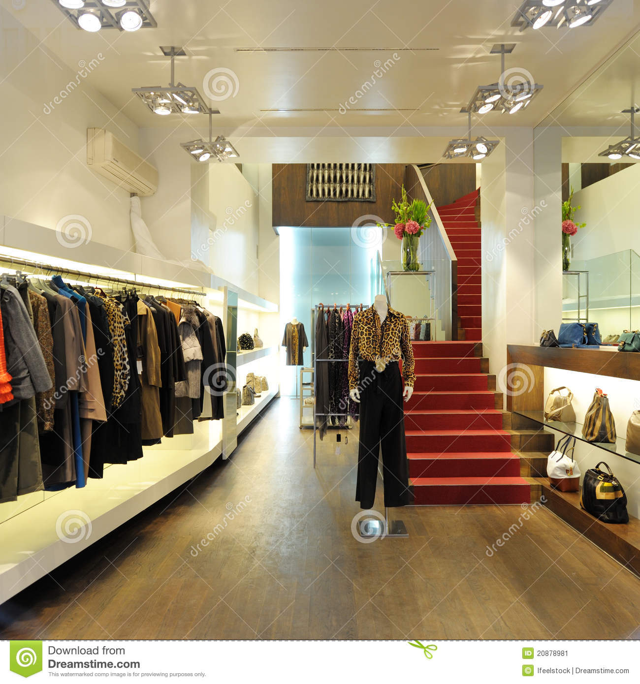 Interior Of A Women Boutique Store Stock Image Image