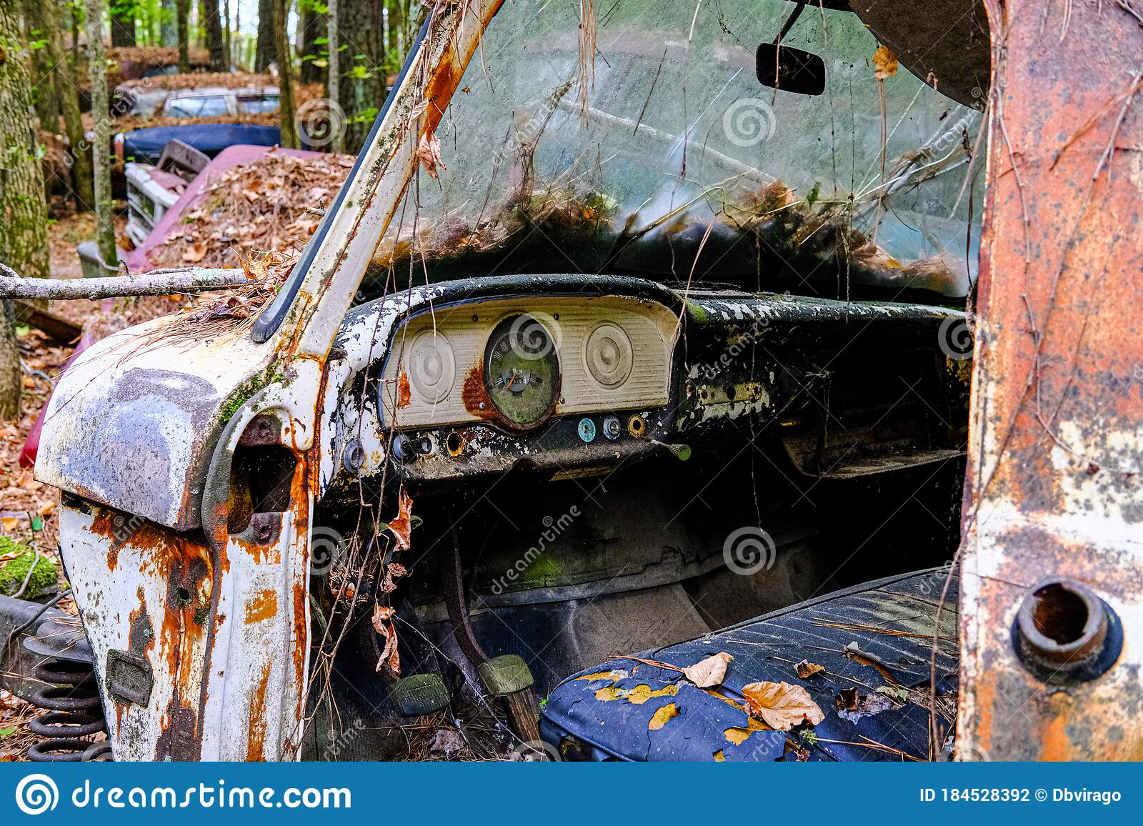 Interior Of Wrecked Truck Editorial Photography Image Of Outdoor 184528392