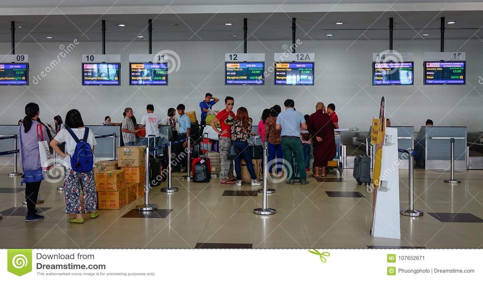 Interior Of Yangon International Airport Editorial Photo Image Of Design Abstract 107652671
