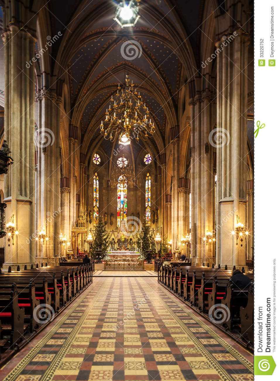 Interior of zagreb cathedral stock photography image for Interior design zagreb