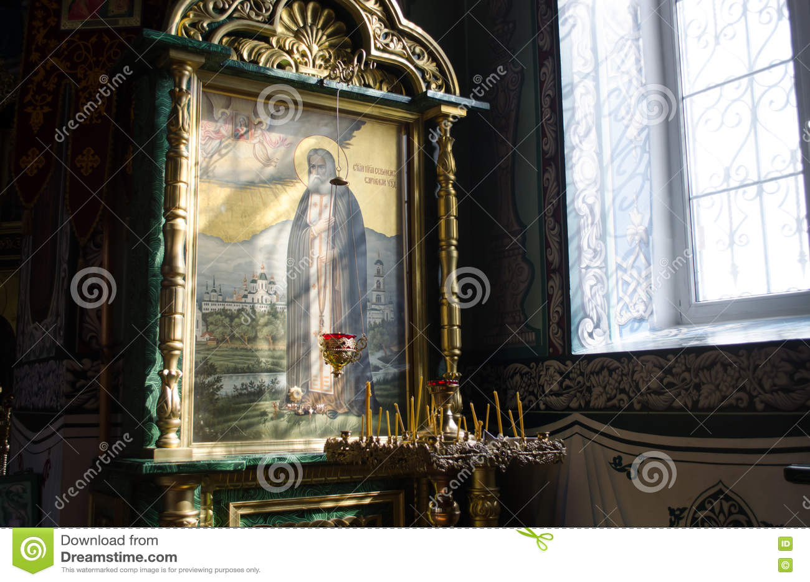 Interiore della chiesa ortodossa