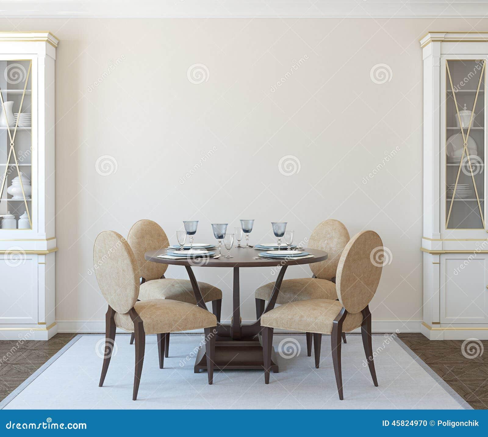 Interiore Della Sala Da Pranzo Illustrazione Di Stock Immagine  #83A328 1300 1182 Nome Della Sala Da Pranzo Del Convento